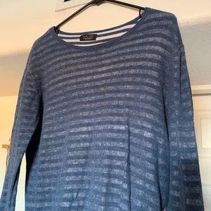 Zara Man Layered Striped Sweater